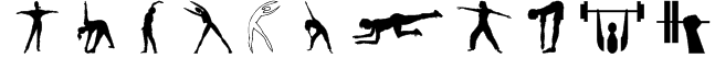 FitnessSilhouettes Font