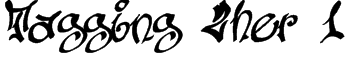 Tagging Zher 1 Font