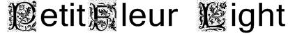 PetitFleur Light Font