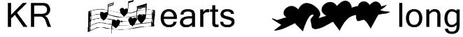 KR Hearts Along Font