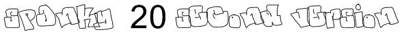 spanky  20 second version Font