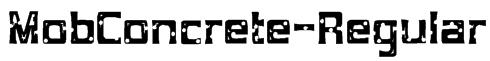 MobConcrete-Regular Font