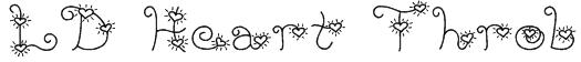 LD Heart Throb Font