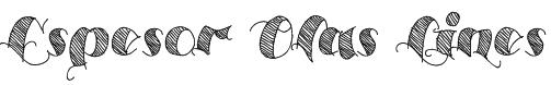 Espesor Olas Lines Font