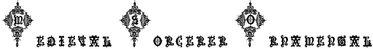 Medieval Sorcerer Ornamental Font