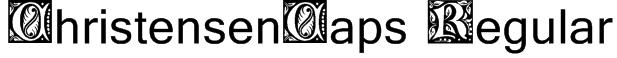 ChristensenCaps Regular Font