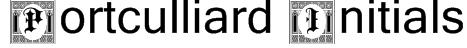 Portculliard Initials Font
