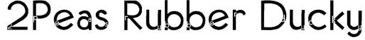 2Peas Rubber Ducky Font