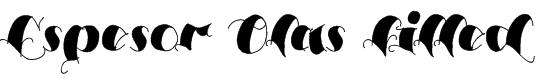 Espesor Olas Filled Font
