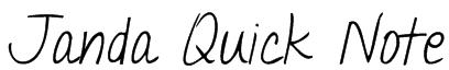Janda Quick Note Font