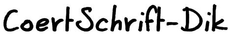 CoertSchrift-Dik Font