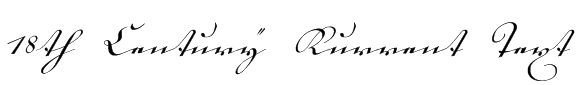 18th Century Kurrent Text Font