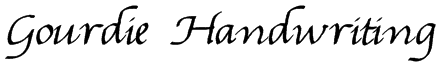 Gourdie Handwriting Font