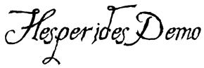 Hesperides Demo Font