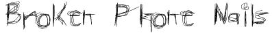 Broken Phone Nails Font