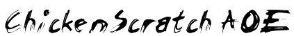 ChickenScratch AOE Font