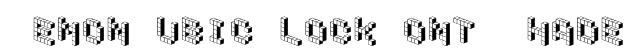 DemonCubicBlockFont Shade Font