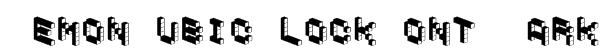 DemonCubicBlockFont Dark Font