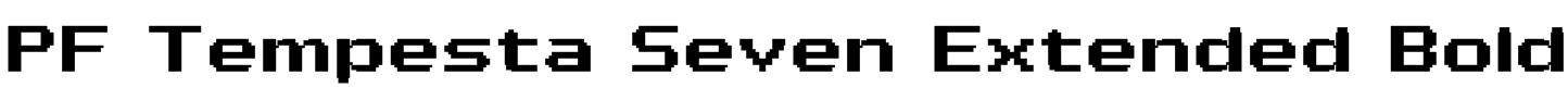 PF Tempesta Seven Extended Bold Font