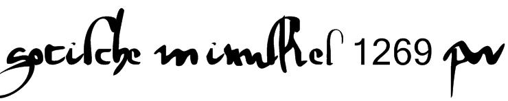 gotische minuskel 1269 pw Font