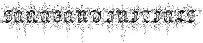 Saraband Initials Font