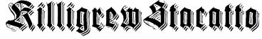 KilligrewStacatto Font