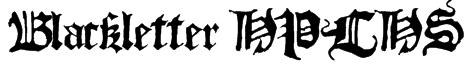 Blackletter HPLHS Font