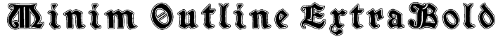Minim Outline ExtraBold Font