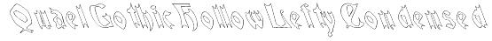 QuaelGothicHollowLeftyCondensed Font