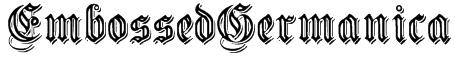 EmbossedGermanica Font