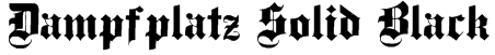 Dampfplatz Solid Black Font