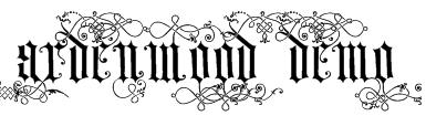 Ardenwood Demo Font