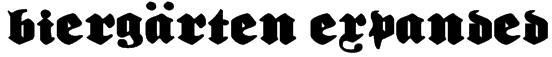 Biergärten Expanded Font