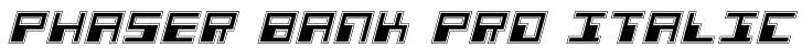 Phaser Bank Pro Italic Font