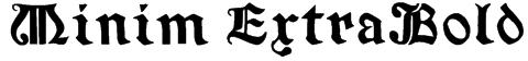 Minim ExtraBold Font