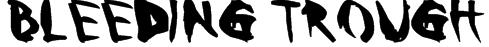 Bleeding Trough Font