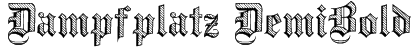 Dampfplatz DemiBold Font