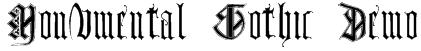 Monumental Gothic Demo Font