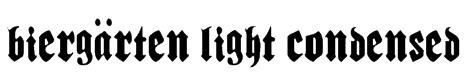Biergärten Light Condensed Font