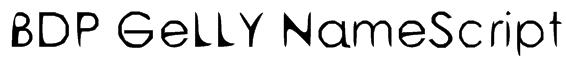 BDP GeLLY NameScript Font