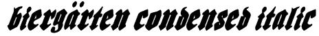 Biergärten Condensed Italic Font
