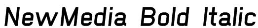 NewMedia Bold Italic Font
