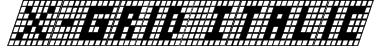 X-Grid Italic Font