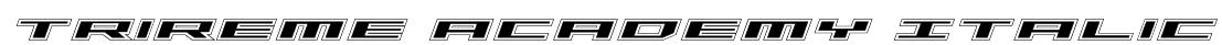 Trireme Academy Italic Font