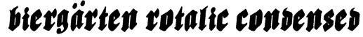 Biergärten Rotalic Condensed Font