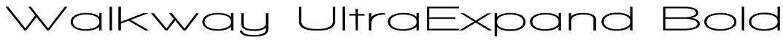 Walkway UltraExpand Bold Font