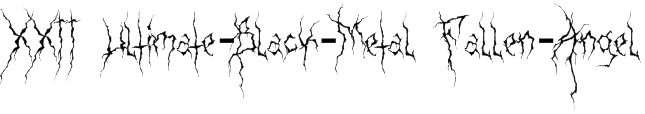 XXII Ultimate-Black-Metal Fallen-Angel Font