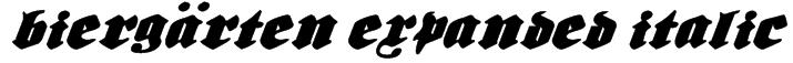Biergärten Expanded Italic Font
