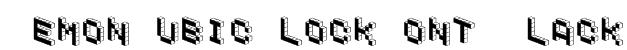 DemonCubicBlockFont Black Font
