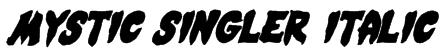 Mystic Singler Italic Font